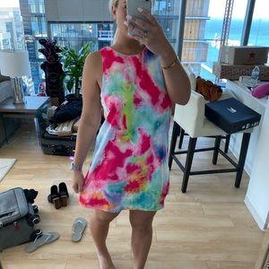 Watercolor shift dress